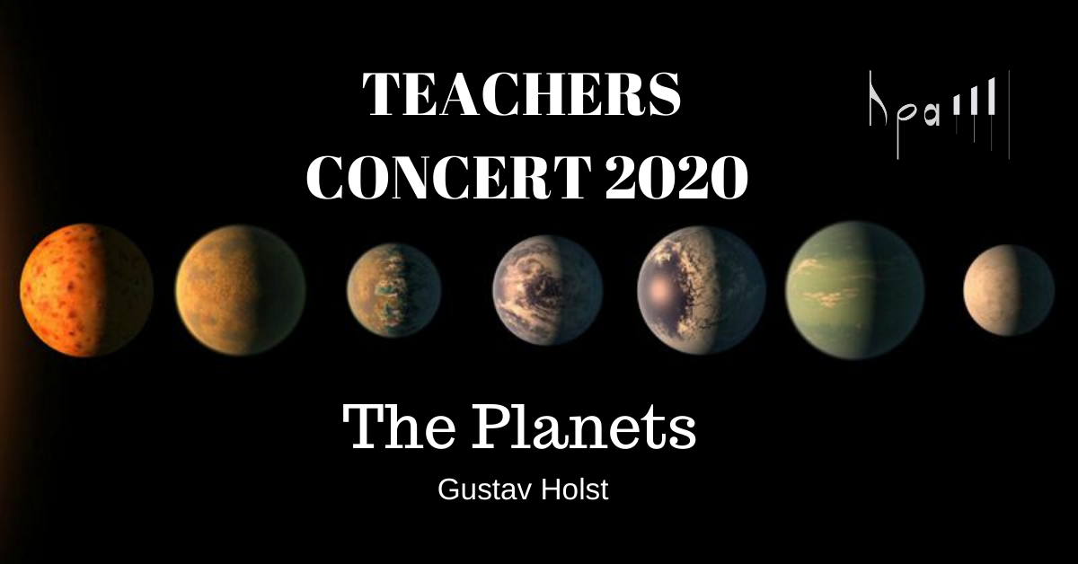 Teachers Concert 2020 The Planets Gustav Holst 4 hands Hampstead Piano Academy
