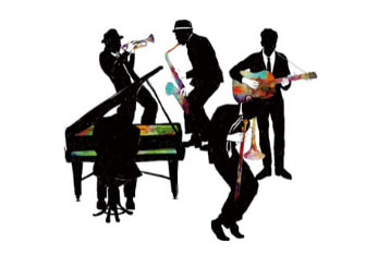 Jazz band with piano