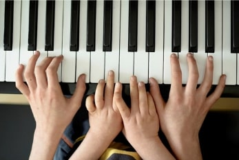 Four hands piano duet